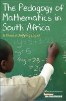 The Pedagogy of Mathematics in South Africa