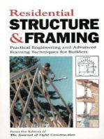 Residential Structure & Framing