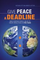 Give Peace A Deadline