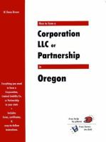 How to Form A Corporation, LLC or Partnership in Oregon