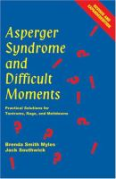 Asperger Syndrome and Difficult Moments