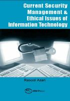 Current Security Management & Ethical Issues of Information Technology
