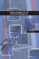 Effective Databases for Text & Document Management
