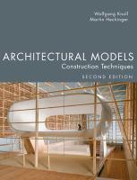 Architectural models : construction techniques