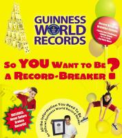 So You Want to Be A Record-breaker?