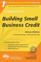 The Rational Guide to Building Small Business Credit