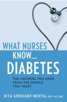What Nurses Know...diabetes