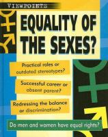 Equality of the Sexes?