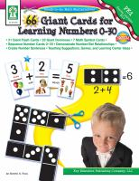 66 Giant Cards for Learning Numbers 0-30