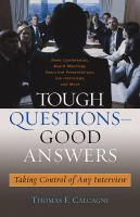 Tough Questions--good Answers
