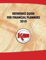 Keir Education Resources Reference Guide for Financial Planners