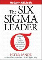 The Six Sigma Leader