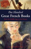 One Hundred Great French Books