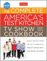 The Complete America's Test Kitchen TV Show Cookbook, 2001-2012