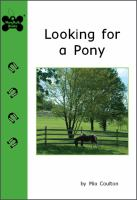 Looking for A Pony