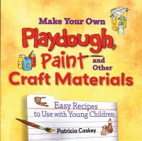 Make your Own Playdough, Paint, and Other Craft Materials