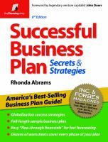 Successful Business Plan Secrets & Strategies