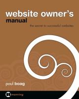 Website Owner's Manual