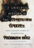 Universal History of the Destruction of Books