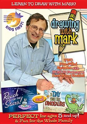 Drawing with Mark - a Day with the Dinosaurs(book-cover)