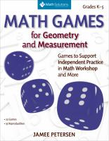 Math Games for Geometry and Measurement