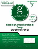 Reading Comprehension & Essays