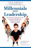 Millennials Into Leadership