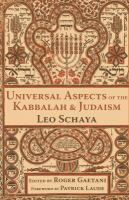 Universal Aspects of the Kabbalah & Judaism
