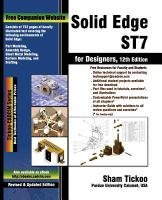 Solid Edge ST7 for Designers (12th Edition)
