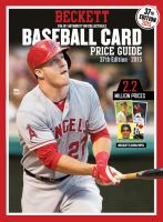 Beckett Baseball Card Price Guide 2015