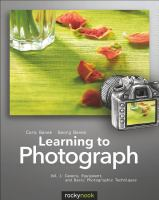 Learning to Photograph, Volume 1