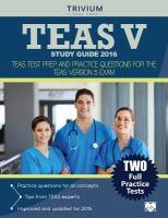 TEAS V Study Guide 2016