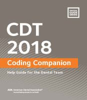 CDT 2018 Coding Companion
