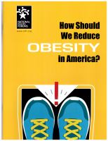 How Should We Reduce Obesity in America?
