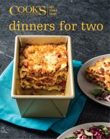 Cook's Illustrated All Time Best Dinners for Two