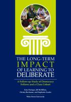 The Long-Term Impact Of Learning To Deliberate