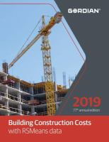 Building Construction Costs With RSMeans Data, 2019
