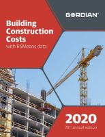 Building Construction Costs With RSMeans Data, 2020