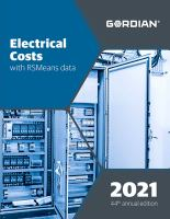 Electrical Costs With RSMeans Data 2021