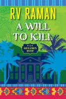 A Will to Kill by RV Raman (book cover)