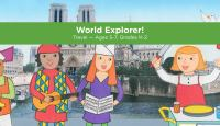 World explorer! Travel [electronic resource (preloaded tablet from Playaway Launchpad)].