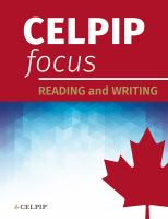 CELPIP focus. Reading and writing.