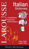 Larousse pocket dictionary : Italian-English, English-Italian