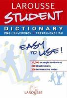 Larousse dictionnaire, Français-Anglais, Anglais-Français