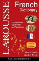 Dictionnaire Français-anglais, Anglais-français