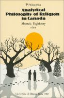 Analytical Philosophy Of Religion In Canada