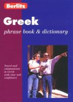 Berlitz Phrase Book & Dictionary