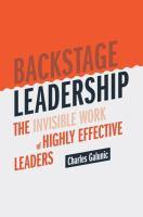 Backstage Leadership