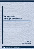 Advances in Strength of Materials