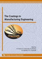 The Coatings in Manufacturing Engineering